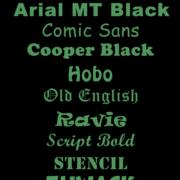 Fonts printed labels