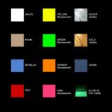 Colors printed labels