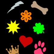 Symbols printed labels